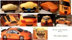 3D Racing Car Cake Tutorial - CakesDecor
