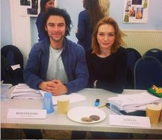 Poldarked: Eleanor and Aidan at the Poldark Read-through