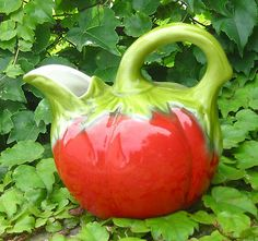"Vintage French Majolica ""Tomato"" Pitcher"