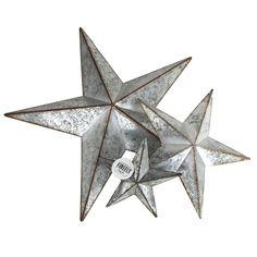 Metal Rustic Stars Galvanized Christmas Decor Door Hangers