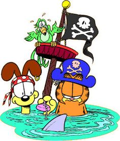 Garfield Garfield Cartoon, Garfield And Odie, Garfield Comics, Charlie Brown Dog, Garfield Pictures, I Hate Mondays, Fat Cats, Treasure Island, Ha Ha