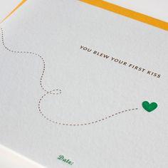 Baby 'Firsts' Milestones Letterpress Card Set