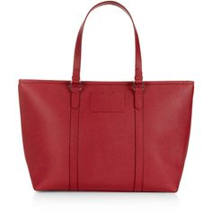 Accessorize Isabella Winged Tote Bag (2,705 PHP) ❤ liked on Polyvore featuring bags, handbags, tote bags, zip top tote, red handbags, red purse, pouch purse and red tote