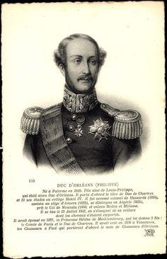 Duc d'Orleans, Philippe, Ne a Palerme en 1810