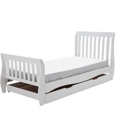 Daisy Sleigh Storage White Single Bed With Bibby Mattress At Argos Co Uk