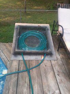 Solar water heater.  Simple, yet surprisingly effective.