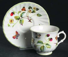 Vintage OLD FOLEY James Kent England Strawberry by anniesfinds, $15.99