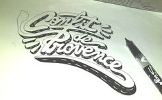 "Typo ""Confit de Provence"" (Stony)"