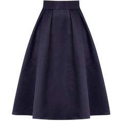 Coast Meslita Skirt, Navy ($110) ❤ liked on Polyvore featuring skirts, bottoms, saias, navy blue skirt, knee length flared skirts, navy skirt, navy blue midi skirt and calf length skirts