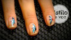 Diseño de uñas fácil | Manicura de líneas