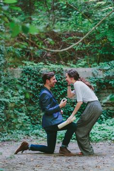 She turned around after the most romantic love letter to find him on one knee! This entire proposal story is so beautiful, and their videos will have you in tears.