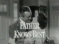 Father Knows Best is an American radio and television comedy series which portrayed a middle class family life in the Midwest. It was created by writer Ed James[1] in the 1940s, and ran on radio from 1949 to 1954 and on television from 1954 to 1960.