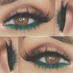 Makeup for brown eyes: 24 best brown eye makeup ideas Makeup für braune Augen: 24 beste braune Augen Make-up-Ideen – Luise.site Makeup for brown eyes: 24 best brown eye makeup ideas - Makeup Looks For Brown Eyes, Makeup For Green Eyes, Blue Eye Makeup, Eyeshadow Makeup, Eyeshadow Palette, Eyeshadow Ideas, Green Eyeshadow, Eyebrow Makeup, Makeup With Green Dress