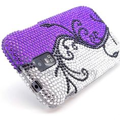 $10.95 > 10% Coupon Code : Pinthis Purple Vine Bling Rhinestones Hard Case Cover For Samsung Galaxy S2 (Hercules T989) T-Mobile