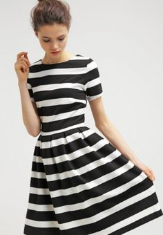 mint&berry Jerseykleid black/white
