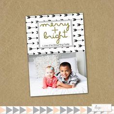 SAME DAY TURNAROUND Christmas Photo Card  Custom by DigiGoose