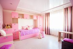 Beautiful Girls Bedroom Ideas for Small Rooms (Teenage Bedroom Ideas), Teenage and Girls Bedroom Ideas for Small Rooms, Pink, Colors Designs Pink Bedroom Decor, Master Bedroom Interior, Small Room Bedroom, Bedroom Vintage, Small Rooms, Bedroom Ideas, Bed Room, Girls Pink Bedding, Pink Bedroom For Girls