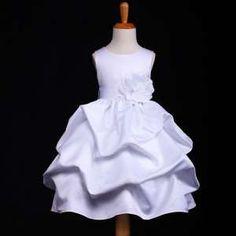 cb070970703 Φορέματα για Παρανυφάκια - Επίσημα Φορέματα για Κορίτσια :: Αμάνικο Παιδικό  σε ΛΕΥΚΟ Σατέν Φόρεμα