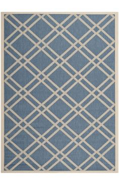 $5 Off when you share! Safavieh Courtyard CY6923 BLUE BEIGE Rug | Contemporary Rugs #RugsUSA