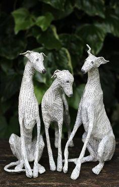 Art | Lorraine Corrigan on Pinterest | Dog Sculpture, Paper Mache and Paper Packs