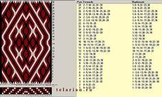 Diseño en 3 colores y 30 tarjetas - El dibujo se completa cada 28 giros de tarjetas