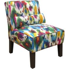 Aurora Accent Chair - this would be great for an art studio, or for those with small kids - it would hide stains and spills!