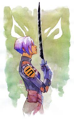 art cactus - I so love that Sabine wielded the dark saber. So badass.
