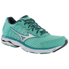 Mizuno Womens Wave Inspire 11 Running Sneaker Shoes. These atheletic shoes are composed of a leightweight, breathable synthetic upper and durable rubber outsole. DynaMotion Fit upper allows the shoe t
