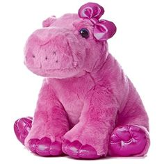 """Aurora World Girlz Nation Pink Hippo Plush, 10"""" -- Read more at the image link. (This is an affiliate link) #StuffedAnimalsTeddyBears"""