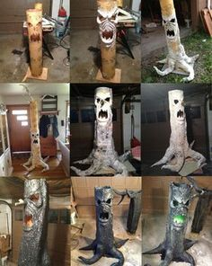 Scary Haunted Tree Prop. i'm so making this for halloween this year.