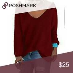 Sarin Mathews Casual V-neck Sweater This cozy and warm cotton sweater is made in the USA.  It has a baggy fit and very flattering V-neck Design with the perfect fit..loose but still shows off your curves! Great with leggings or distressed jeans! New in Packaging Sarin Mathews Sweaters V-Necks