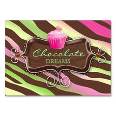 Bakery Gift Card Certificate Chocolate Cupcake Business Cards $$36.95 -- click for sales!!!!