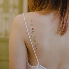 Tiny Flower Tattoos, Cute Tiny Tattoos, Dainty Tattoos, Little Tattoos, Pretty Tattoos, Beautiful Tattoos, Small Tattoos, Delicate Flower Tattoo, Delicate Tattoos For Women