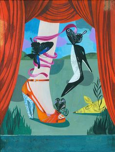 Illustrations for a broshure for a Shoe Fair by Olaf Hajek