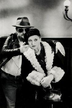 Rainer Werner Fassbinder and Hanna Schygulla