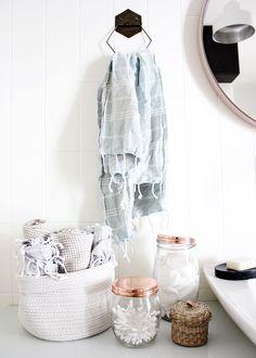 oh what a room: Badezimmerdeko mit Hamamtüchern