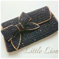 Likes, 19 Comments - Nes Crochet Clutch Bags, Crochet Purse Patterns, Crochet Handbags, Crochet Purses, Crochet Accessories, Bag Accessories, Crochet Camera, Crochet Monsters, Yarn Bag