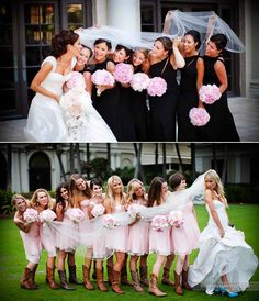 10 Must-Have Wedding Photos with The Girls -- The Veil Shot