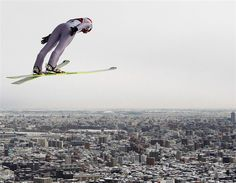 Poland's Kamil Stoch in the FIS World Cup Ski Jumping in Sapporo, northern Japan.