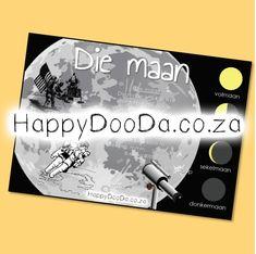 'n Tema muurkaart – Die maan. Hierdie produk is in Afrikaans vir leerders 4-13 jaar. Home Schooling, Afrikaans, Hdd, Homeschool, Words, Afrikaans Language, Homeschooling