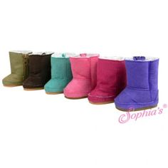 Suede Ewe Boot Fits 18 Inch American Girl Doll Shoes