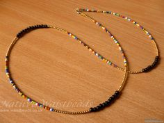 African Inspired Black Bone, Brass and multi coloured Waist Beads