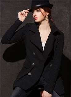 Euramerican Brilliant Double Breasted Pure Color Top Quality Overcoat