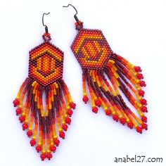 Inspiration from Russian beadwork blog - Jewelry by Anabel  -  Beaded Earrings