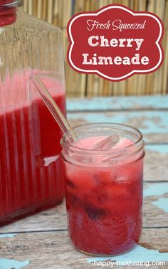 Fresh Squeezed Cherry Limeade
