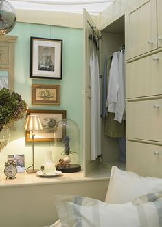 Built-in bed with cabinets, too!   Country Home magazine - Storage Solutions