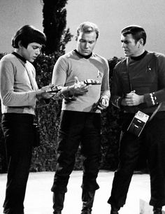 Chekov: See, it says it right there...Inwented in Russia. Kirk:It doesn't say that on mine... Scotty: Whoah, it's spelled with a 'w' and everything!