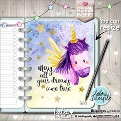 Planner Insert, Printable Planner Insert, Planner Divider, Planner Quotes, Unicorn, Planner Dashboard, Kawaii Planner, Inspirational, Cute