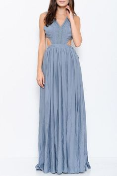 Dusty Blue Maxi Dress  #dress #hautemood #fallattire #knit #musthave #onlineshopping #boutique #fashionblogger #falltrends #trending