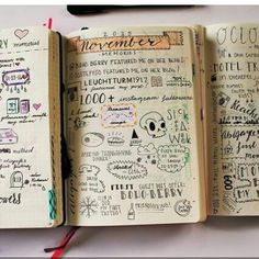 Some of my monthly memory pages ♥ #memories #bulletjournallove…